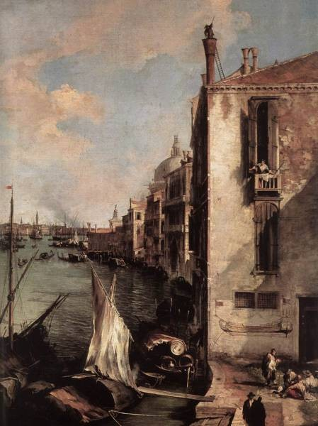 Grand Canal Looking East From The Campo San Vio detail